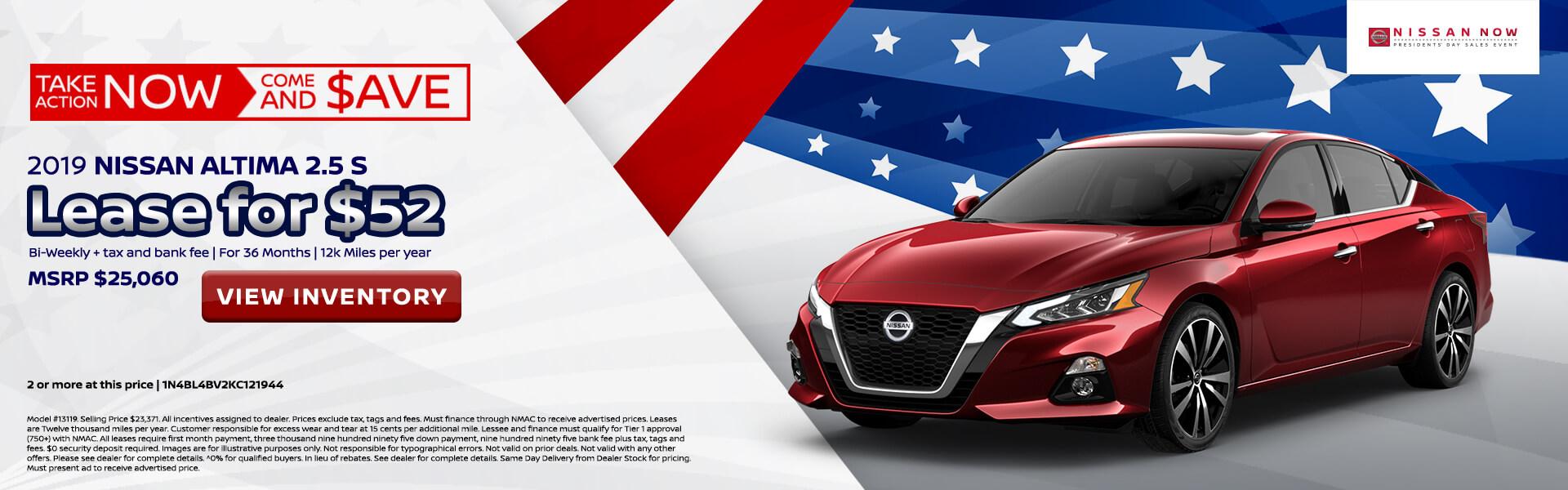 Nissan Altima $104 Lease