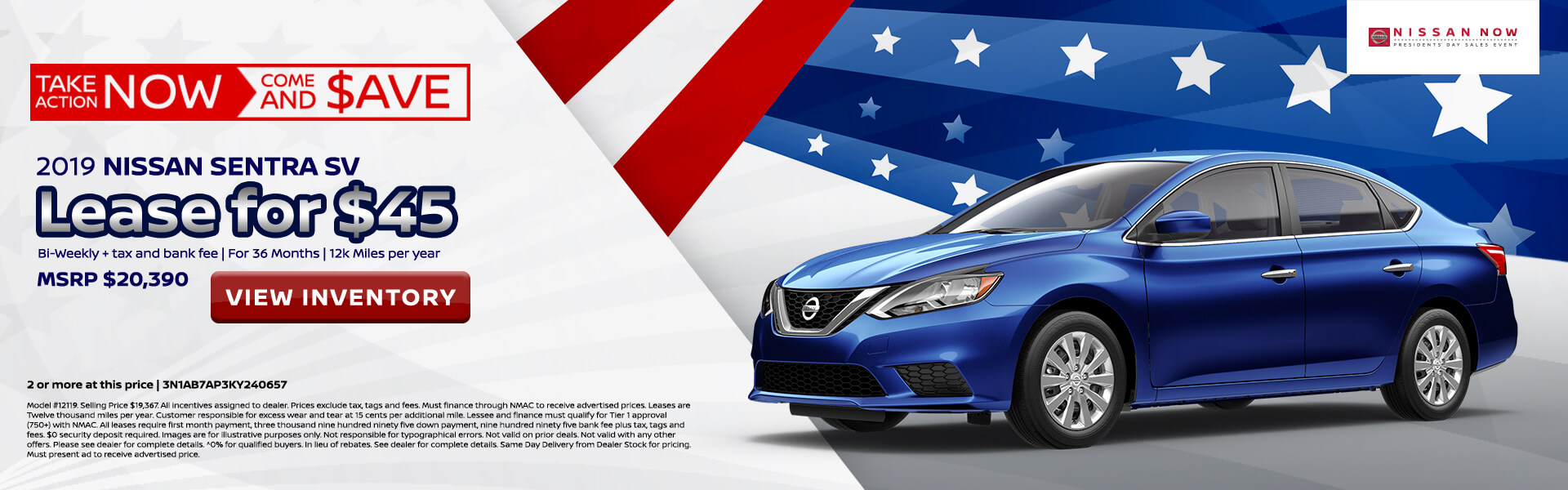 Nissan Sentra $90 Lease