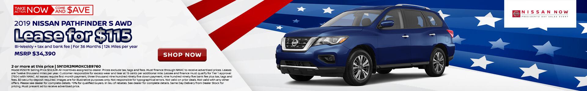 Nissan Pathfinder $230 Lease
