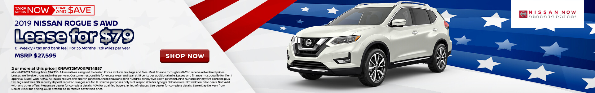 Nissan Rogue $158 Lease
