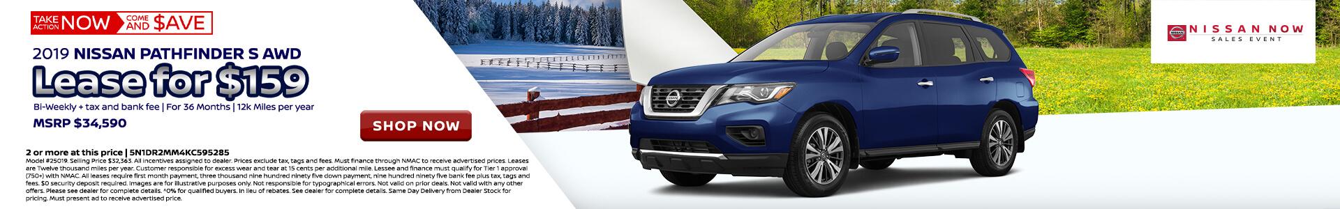 Nissan Pathfinder $318 Lease