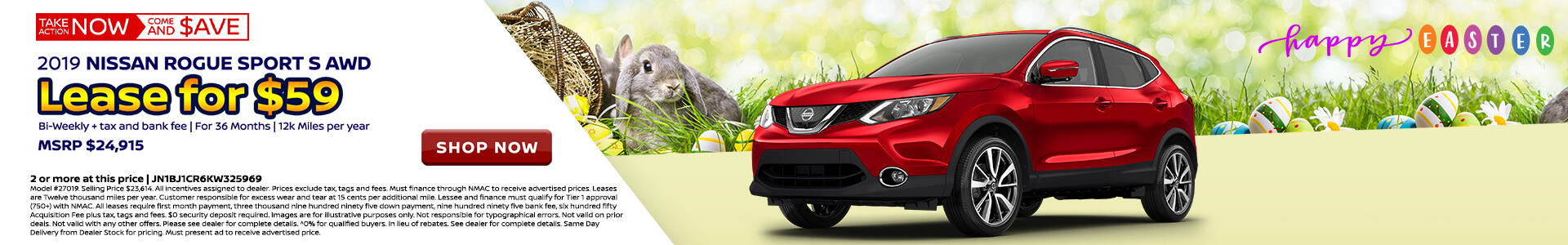 Nissan Rogue Sport $118 Lease