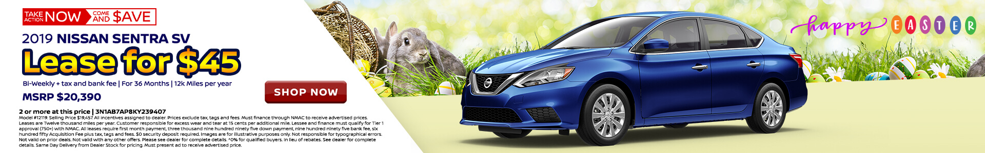 Nissan Sentra $90 Lease