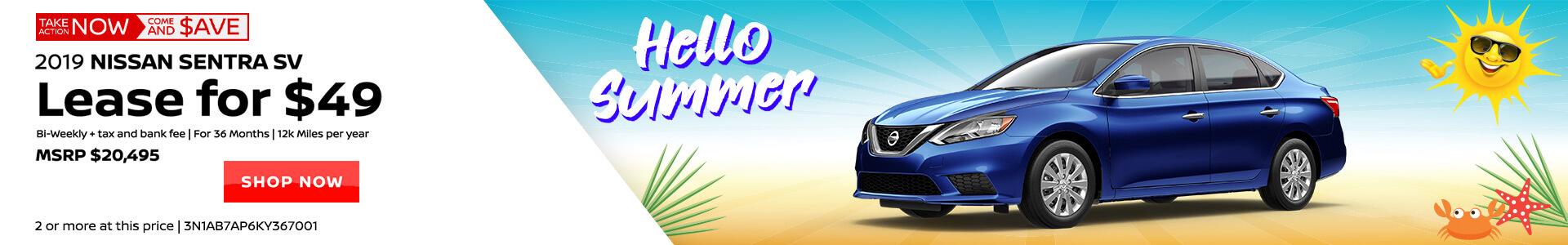 Nissan Sentra $98 Lease