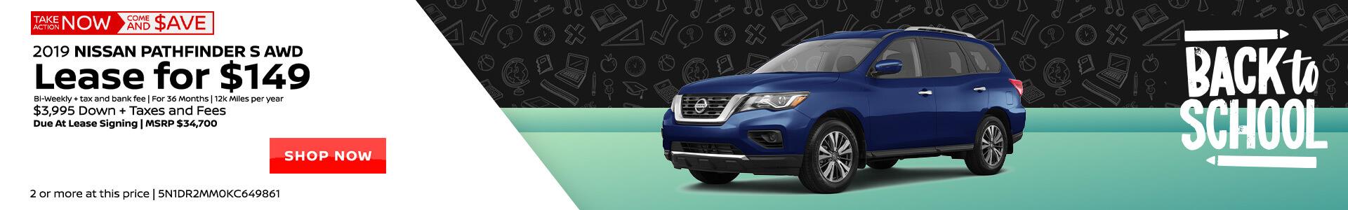 Nissan Pathfinder $149 Lease