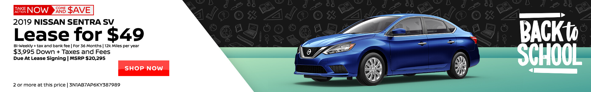 Nissan Sentra $49 Lease