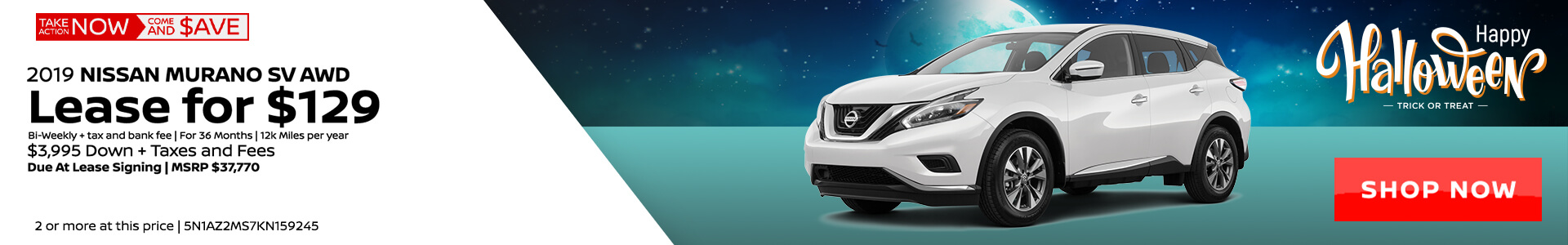 Nissan Murano $139 Lease
