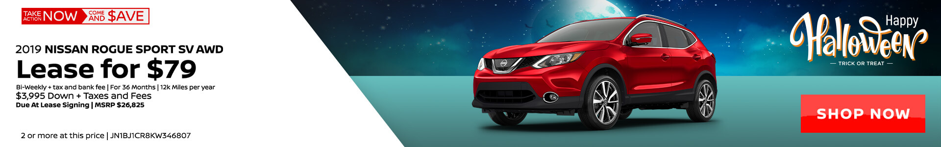 Nissan Rogue Sport $79 Lease