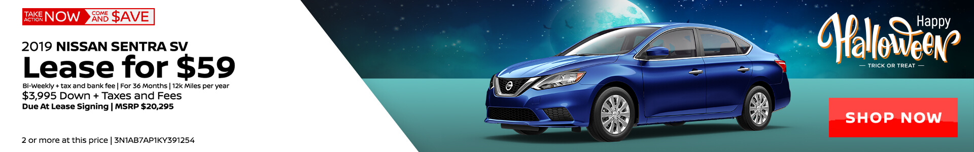 Nissan Sentra $59 Lease