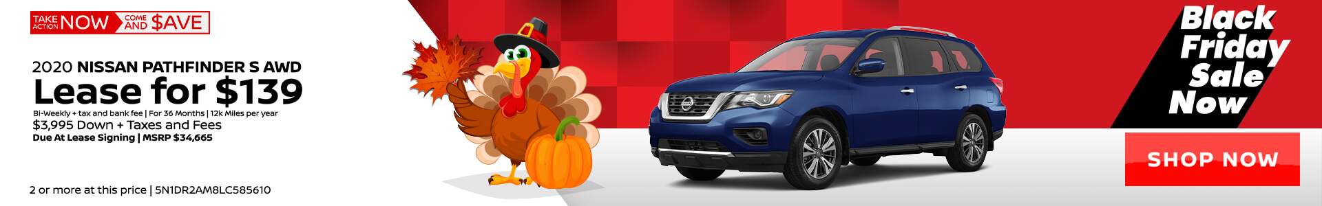 Nissan Pathfinder $139 Lease