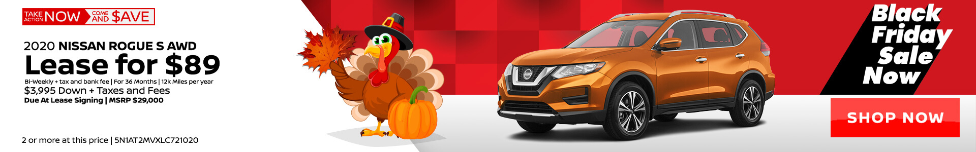Nissan Rogue $89 Lease