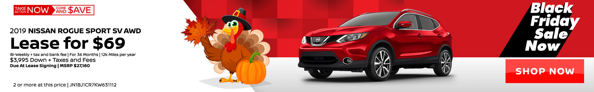 Nissan Rogue Sport $69 Lease