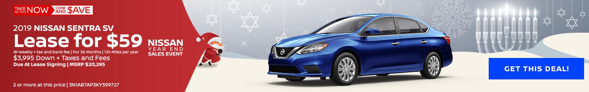 Nissan Sentra $59 Lease