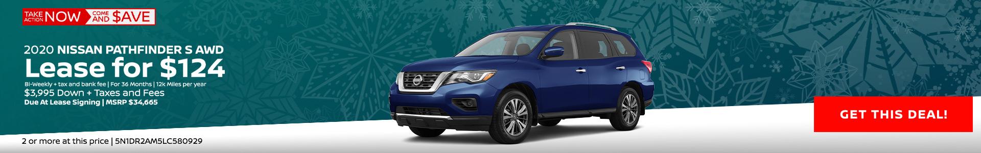 Nissan Pathfinder $124 Lease