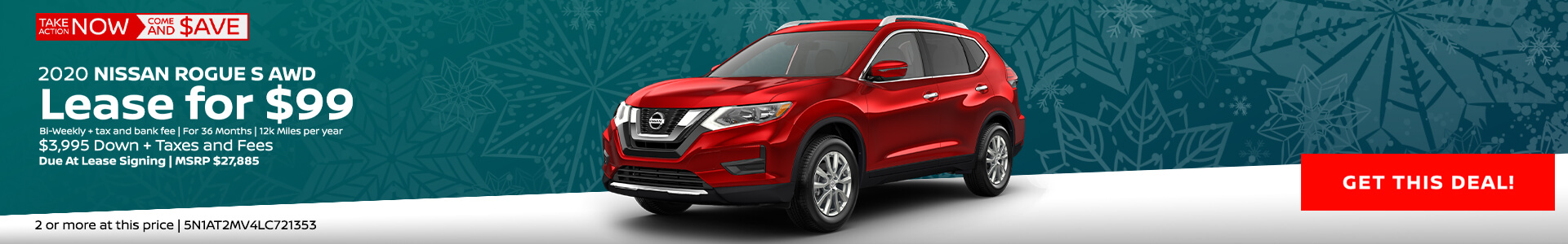 Nissan Rogue $99 Lease