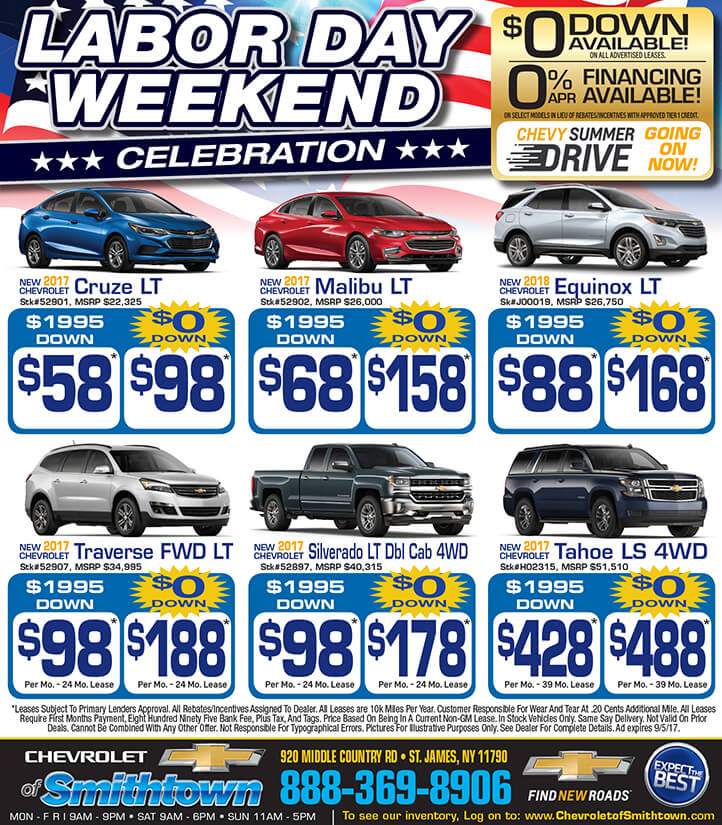 Labor Day Specials Chevrolet Of Smithtown