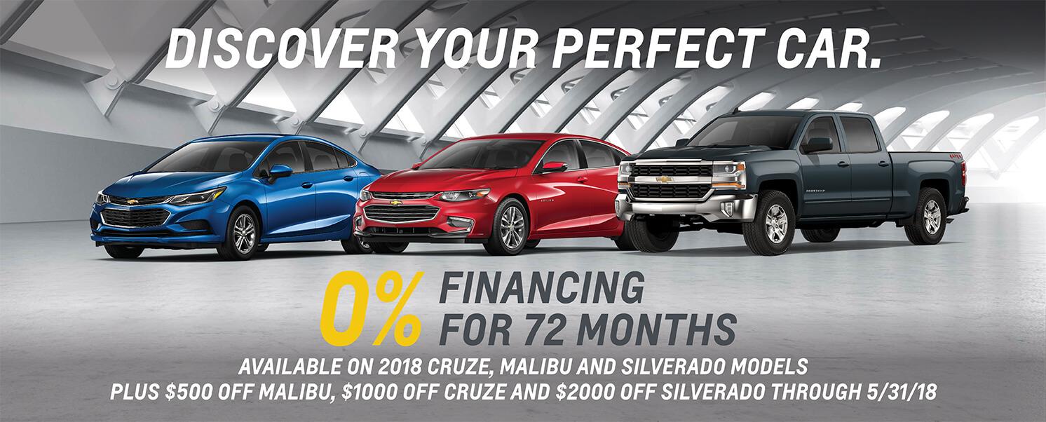 Chevrolet Cruze, Malibu & Silverado 0% APR
