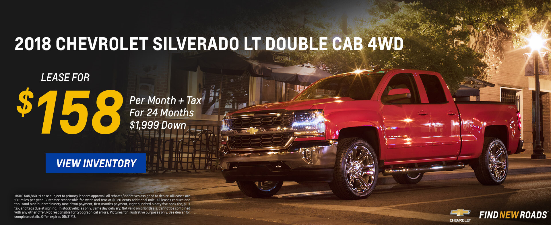 Chevrolet Silverado $158 Lease