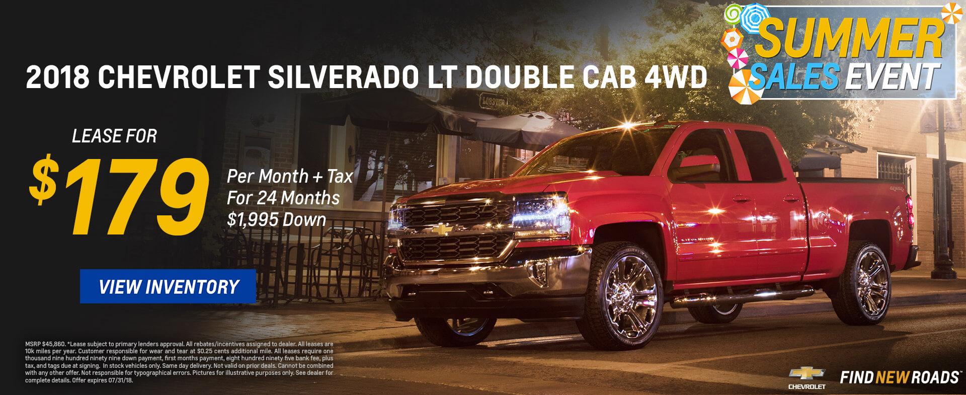 Chevrolet Silverado $179 Lease