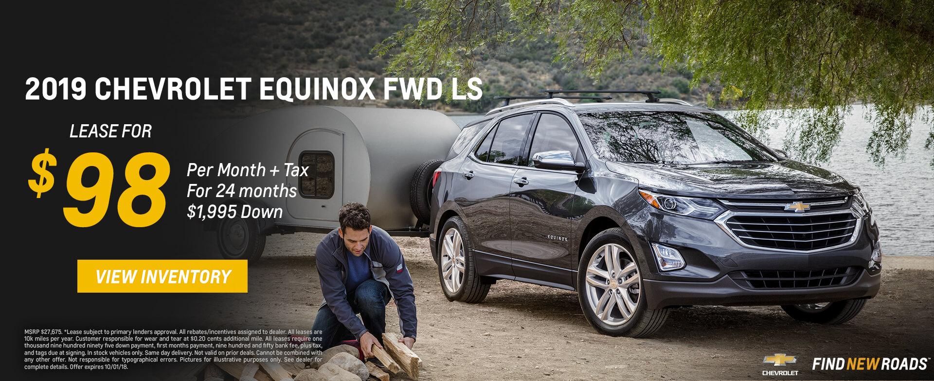 Chevrolet Equinox $98 Lease