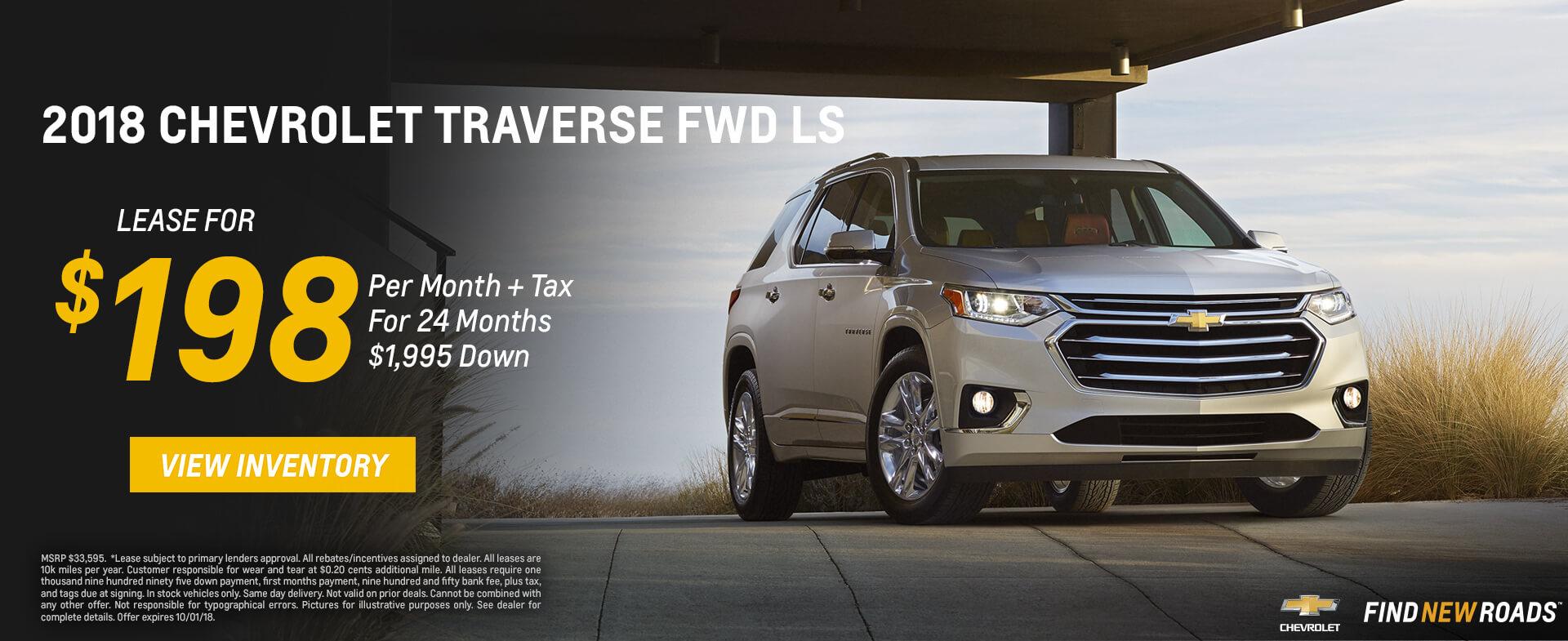 Chevrolet Traverse $198 Lease