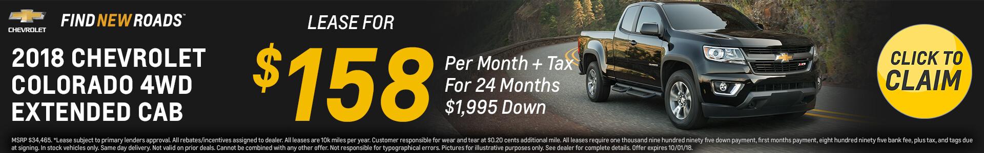 Chevrolet Colorado $158 Lease