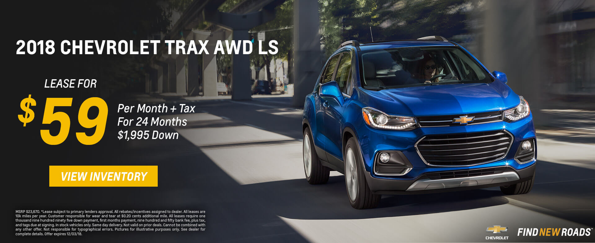Chevrolet Trax $59 Lease