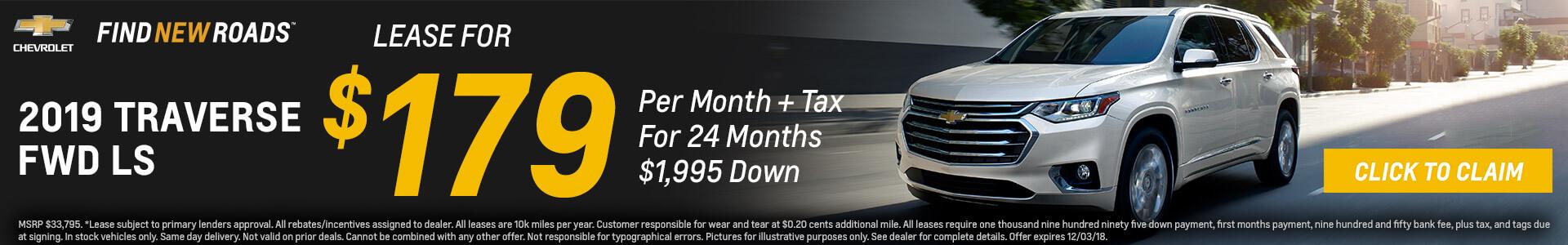 Chevrolet Traverse $179 Lease