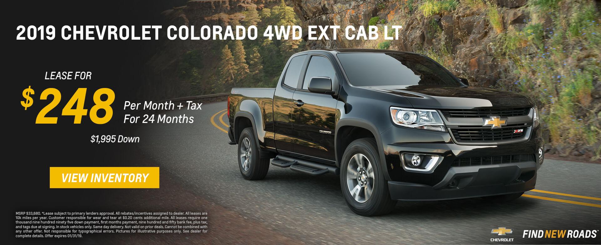 Chevrolet Colorado $248 Lease