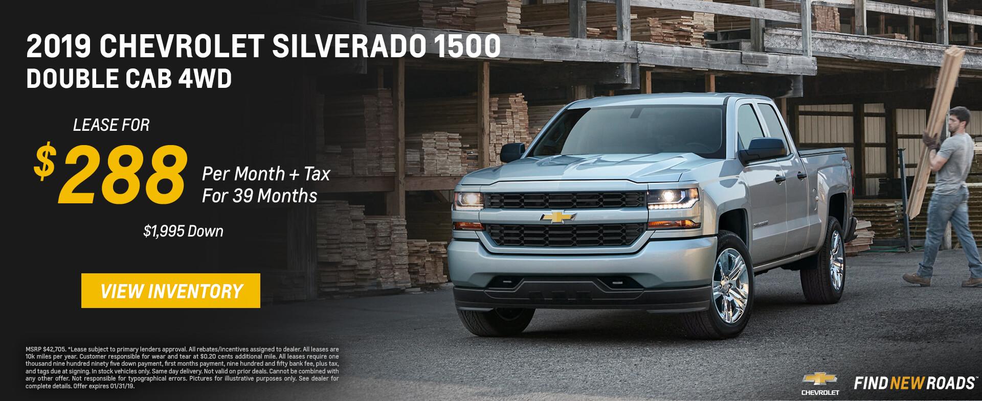 Chevrolet Silverado $288 Lease