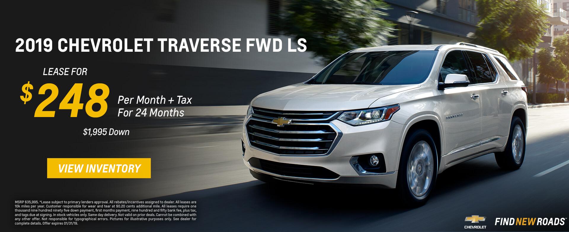 Chevrolet Traverse $248 Lease