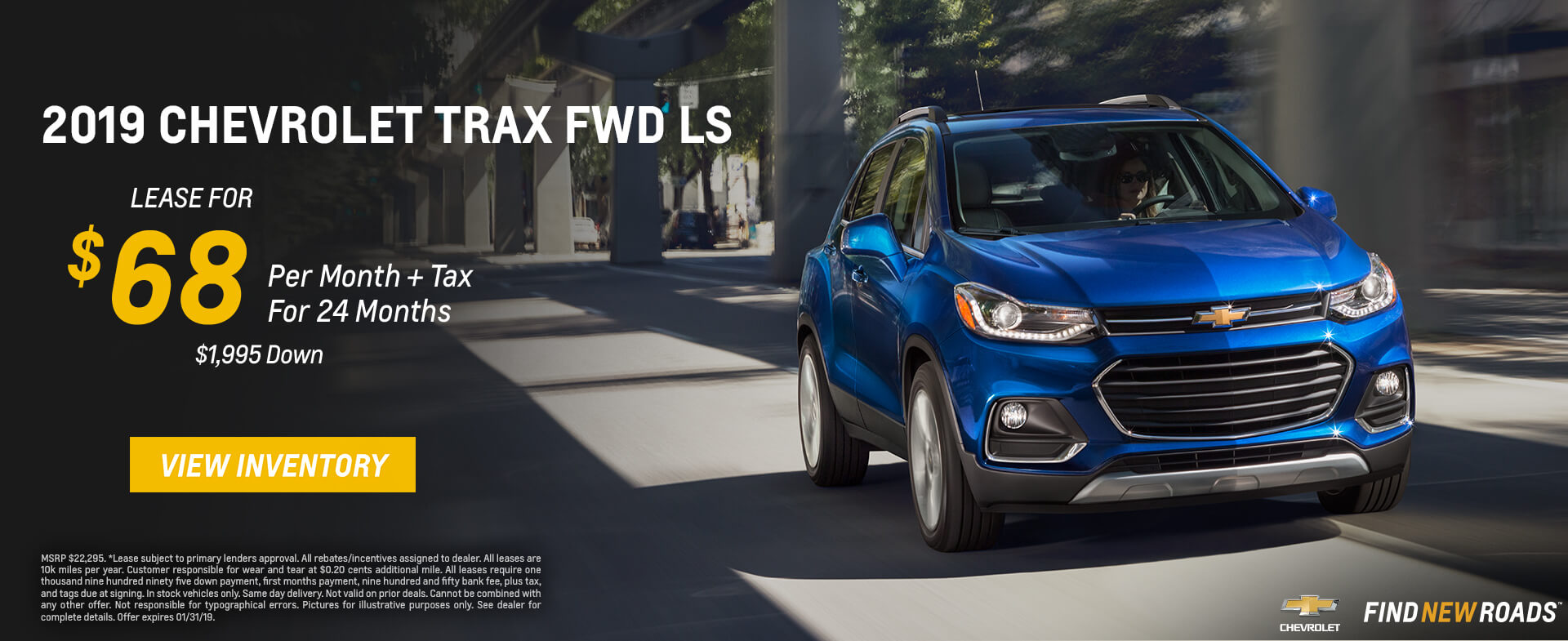 Chevrolet Trax $68 Lease