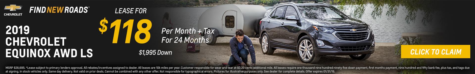 Chevrolet Equinox $118 Lease