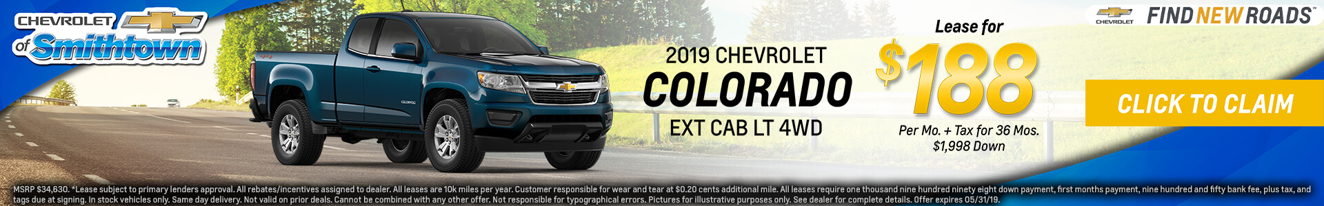 Chevrolet Colorado $168 Lease