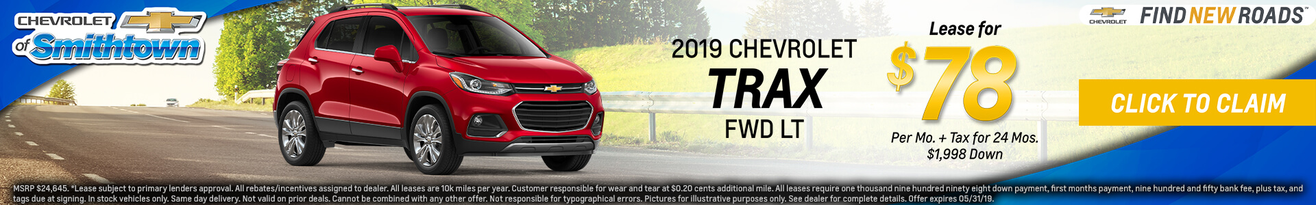 Chevrolet Trax $78 Lease