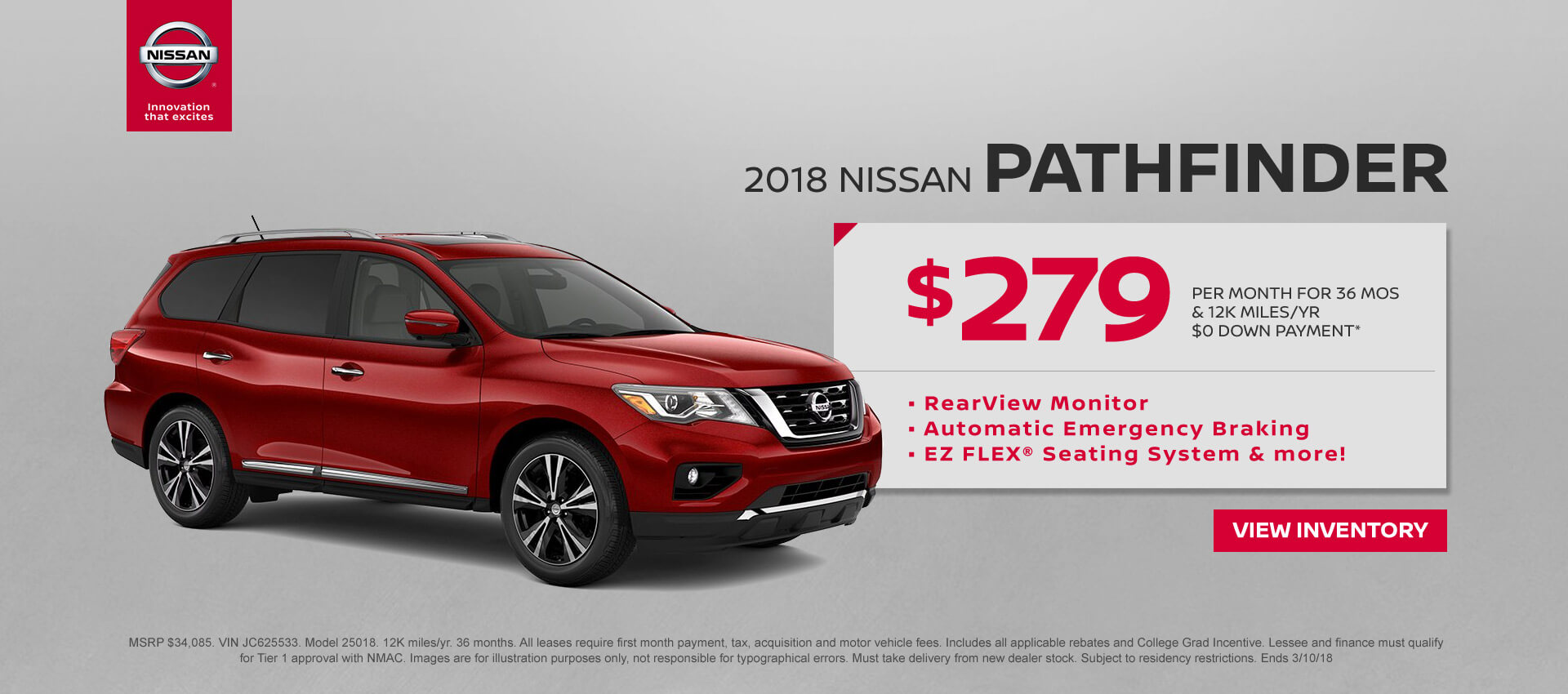 Best 2018 nissan pathfinder lease deals