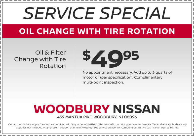 Service Specials And Coupons Woodbury Nissan