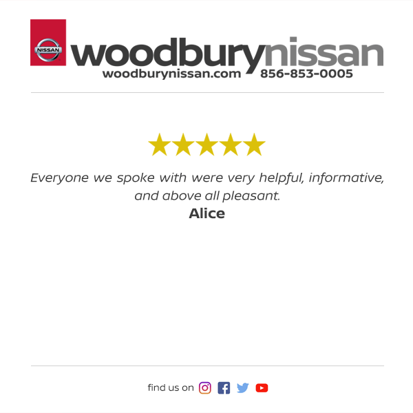 Woodbury Nissan Facebook Review