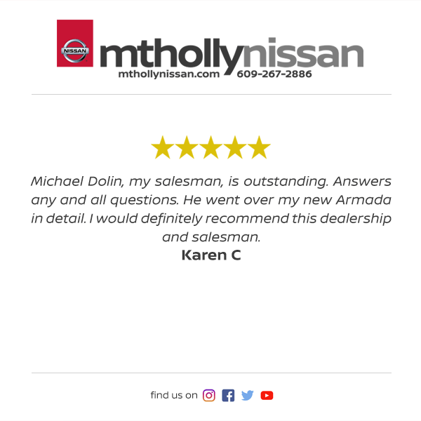 Mt. Holly Nissan Facebook Review