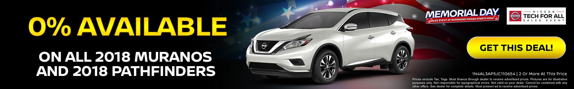 Nissan Pathfinder $249 Lease
