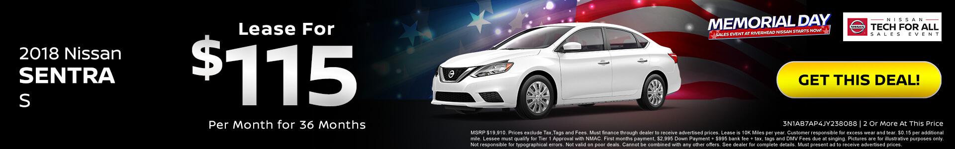Nissan Sentra $115 Lease