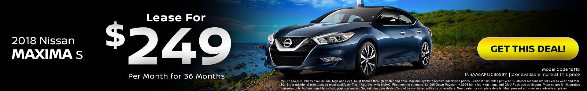 Nissan Maxima $249 Lease