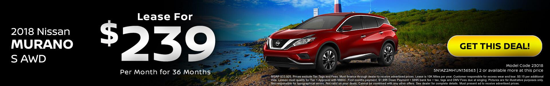 Nissan Murano $239 Lease