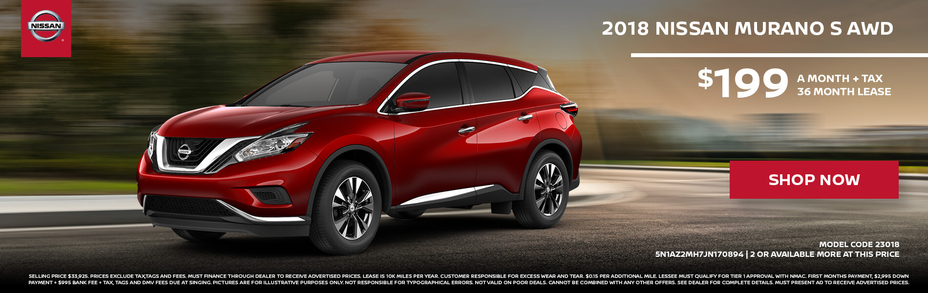 Nissan Murano $199 Lease
