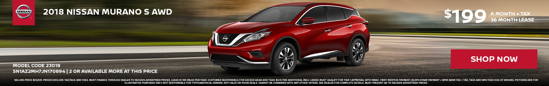 Nissan Murano $199 Lease