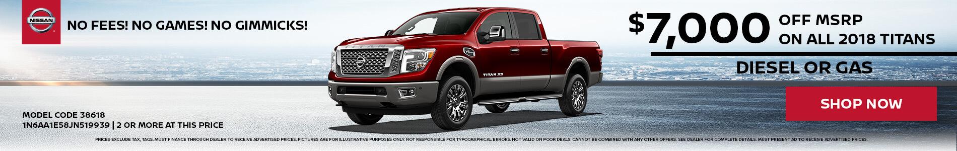 Nissan Titan $7,000 OFF MSRP