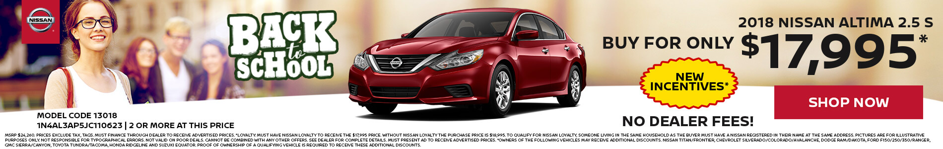 Nissan Altima $18,995 Purchas
