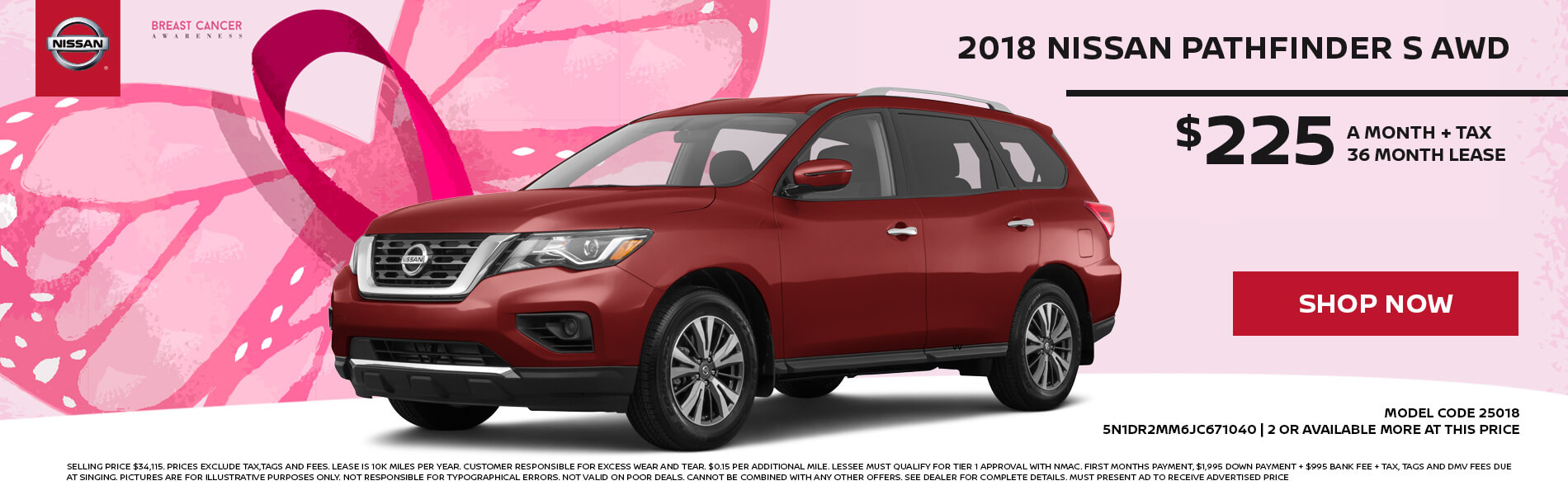 Exceptional Nissan Pathfinder $225 Lease
