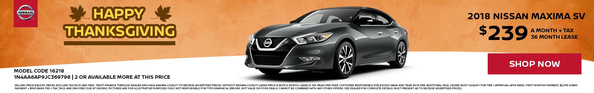 Nissan Maxima $239 Lease