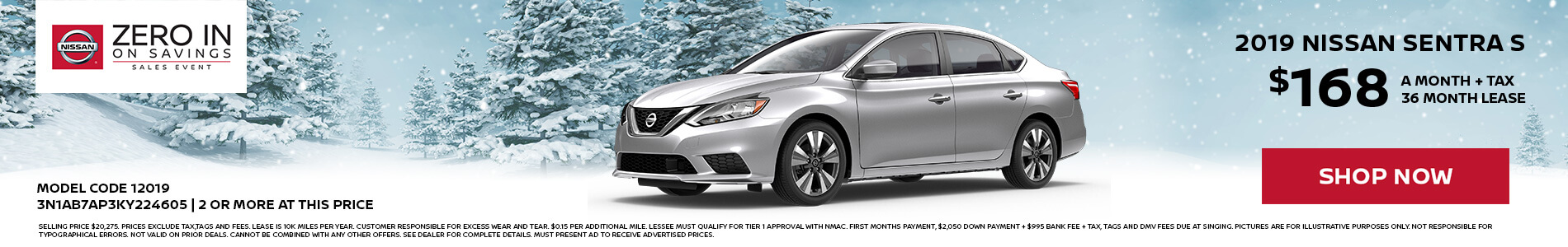 Nissan Sentra $168 Lease